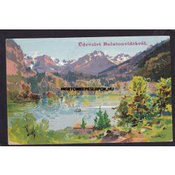 Balaton régi képeslapokon. Üdvözlet Balatonvidékről.1903