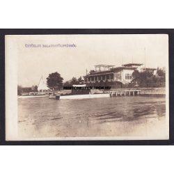 Balatonfüred régi képeslapon. Üdvözlet Balatonföldvárról fotó képeslap. Kiadja Nagy I. 1923.