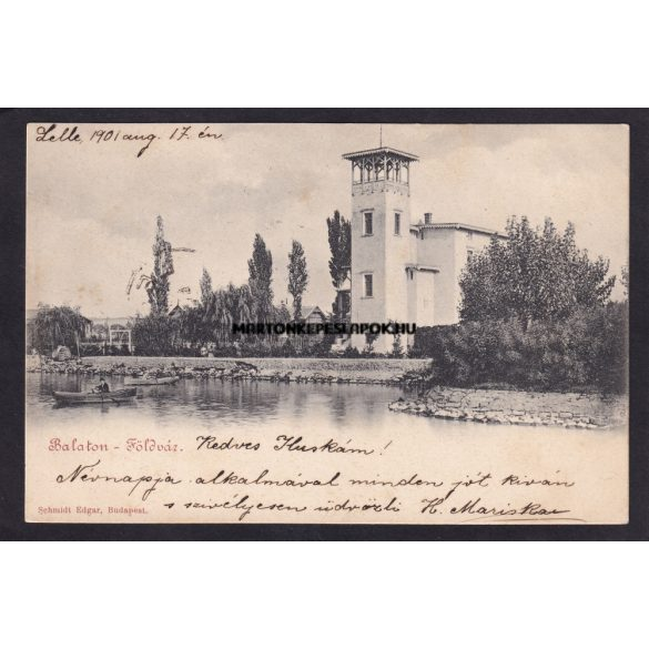 Balatonföldvár régi képeslapon. Kiadó Schmidt Edgar 1901.