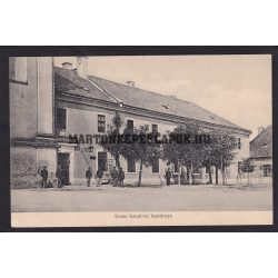 Eger régi képeslapon. Rossz templom kaszárnya, laktanya.Baross nyomda