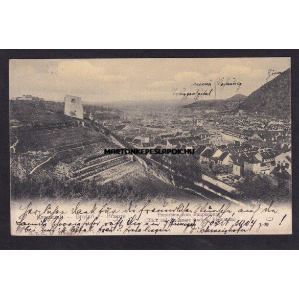 Brassó, Kronstadt régi képeslapon. Feladva 1906