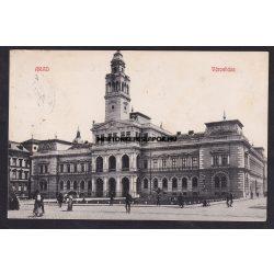 Arad régi képeslapon. Városháza, feladva 1913-ban