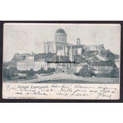 Esztergom régi képeslapon. Látkép. Kiadó Gregor Fischer 1903.