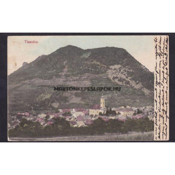 Tiszolcz régi képeslapon. Látkép 1915-ös feladás