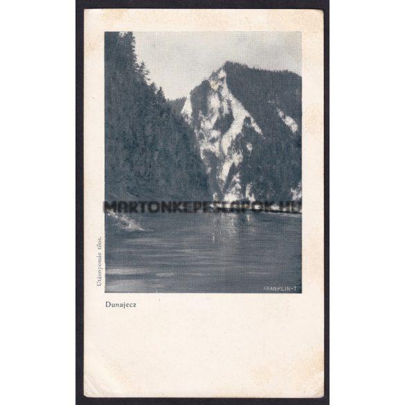 Dunajecz régi képeslapon. Folyó Szepes megyében; ered a Tátra éjszaki oldalából.