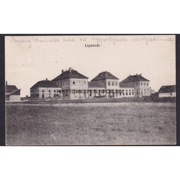 Lipótvár  régi képeslapon. 1910-es évek. MÁV levelezőlap árusítás