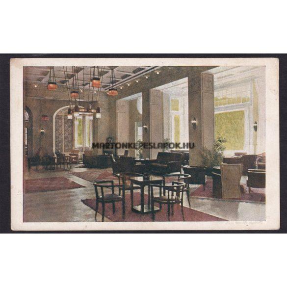 Pöstyén régi képeslapon. Thermál Palace hotel belseje