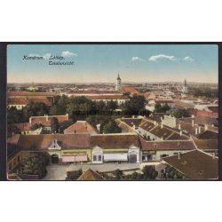 Komárom régi képeslapon. Látkép, Totalansicht. 1915
