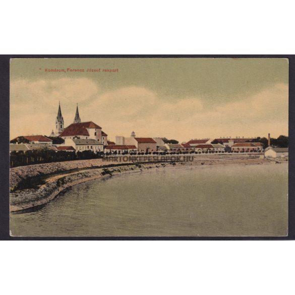 Komárom régi képeslapon. Ferencz József rakpart. 1909-es feladás