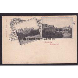 Hatvan régi képeslapon. Cukorgyár, igazgatósági épület és a kastély