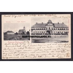 Hatvan régi képeslapon. Kastély és a parókia. Hoffmann M.L. kiadása 1904.