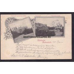 Hatvan régi képeslapon. Cukorgyár, igazgatósági épület és a kastély 1901