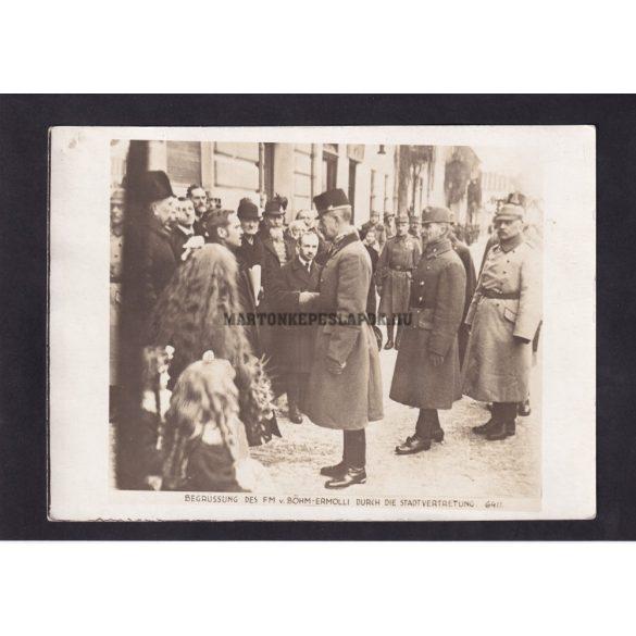 Eduard von Böhm-Ermolli báró császári és királyi tábornagy, a cs.és kir. 2. hadsereg parancsnoka, az első világháború sikeres hadvezére.