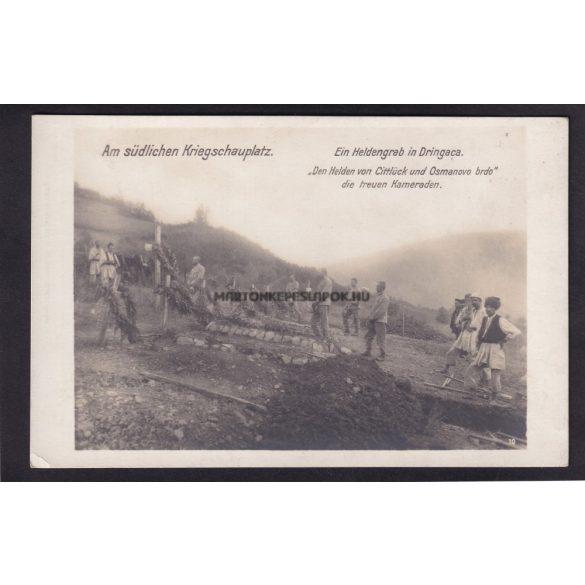 Déli front.Egy hős sírja Dringacaban. 1914