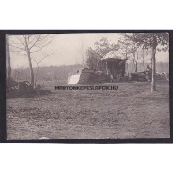 Katonai tábor első világháború. 3 db képeslap. Fodor Vilmos fényképész, Győr Deák Ferenc-utca 25.