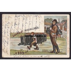 """Miskolc régi képeslapon. """"A 999-ik"""" Gedeon András kiadása 1902,"""