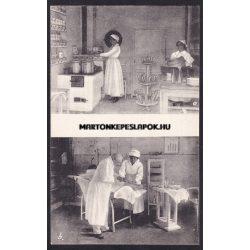 Fót régi képeslapon. Teakonyha és ingyenes orvosi rendelő. Faragó Phot. Újpest