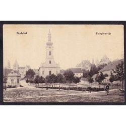 Budafok régi képeslapon. Római katolikus templom.  Feladva 1902-ben