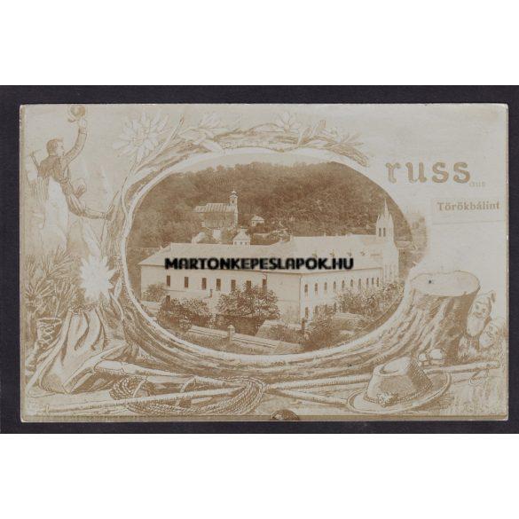 Törökbálint régi képeslapon. Üdvözlet Törökbálintból. Feladva 1913 ban.