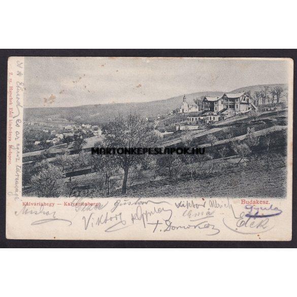 Budakeszi régi képeslapon. Kálváriahegy. Hatschek Emil kiadványa. Feladva 1904- ben