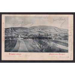 Hidegkút régi képeslapon. Hidegkút látképe.1901-ben feladva. Divald Károly kiadása