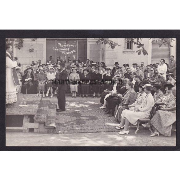 Parádfürdő régi képeslapon. Tábori mise 1937.