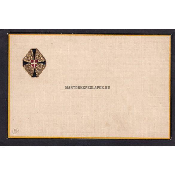 Hivatalos Hadsegélyező jelvény képeslapon. Schwarz Gelben Kreuz 1914