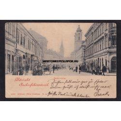 Székesfehérvár régi képeslapon. Nádor utca. Klökner Péter kiadása 1899.