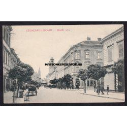 Székesfehérvár régi képeslapon. Nádor utca. Ullmann Imre kiadása