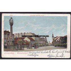 Szombathely régi képeslapon. Fő tér és az Erzsébet királyné utca 1900-as feladás