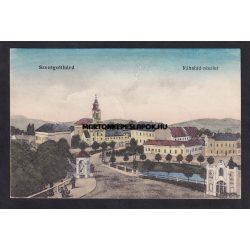 Szentgotthárd régi képeslapon. Rábahíd részlet. Wellisch Béla kiadása