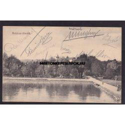 Balatonalmádi régi képeslapon Részlet a kikötőből